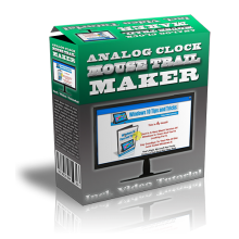 Analog Clock Mouse Trail Maker